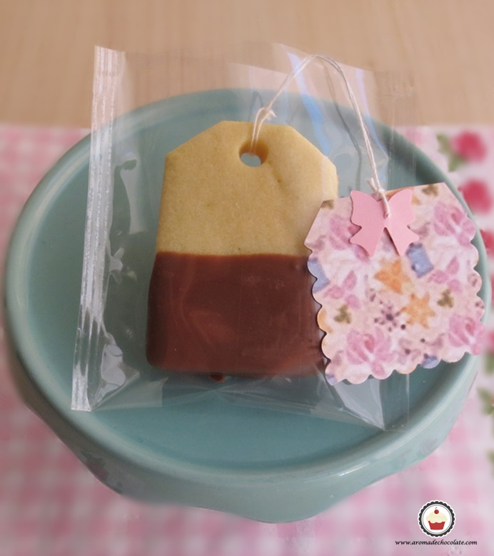 Galletas de te en bolsa. Aroma de chocolate