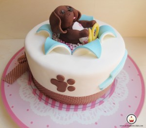 Tarta de perrito. Aroma de chocolate