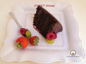 Porción de pastel de chocolate. Aroma de chocolate.