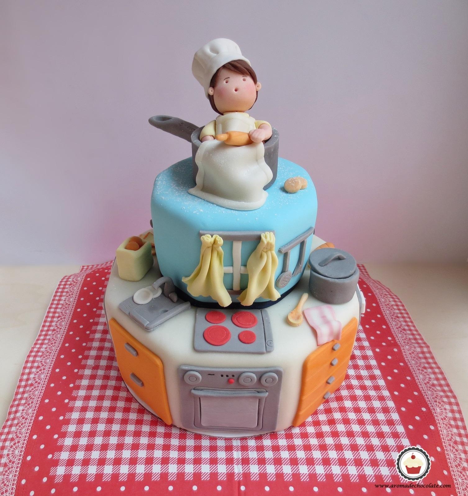 Tarta Mini Chef. Aroma de chocolate