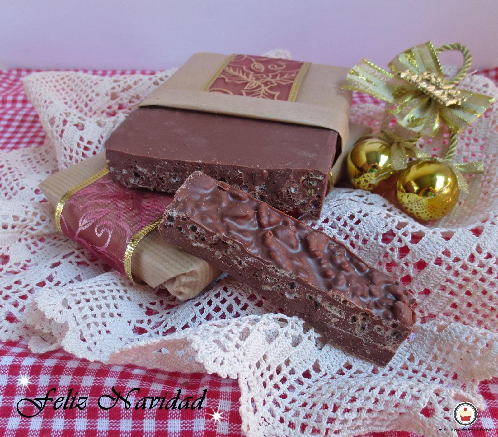 Turron de chocolate. Aroma de chocolate