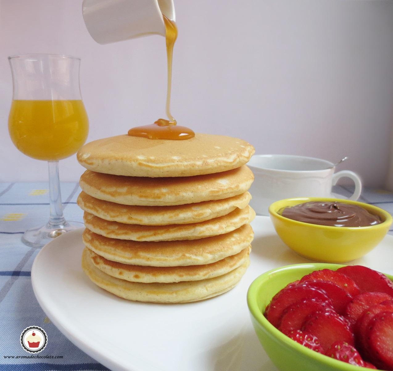 Pancakes.Aroma de chocolate