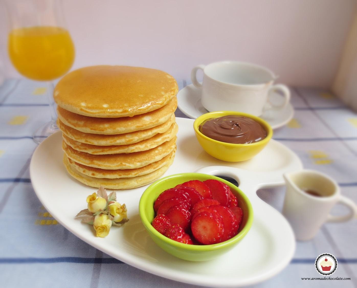 Pancakes. Aroma de chocolate