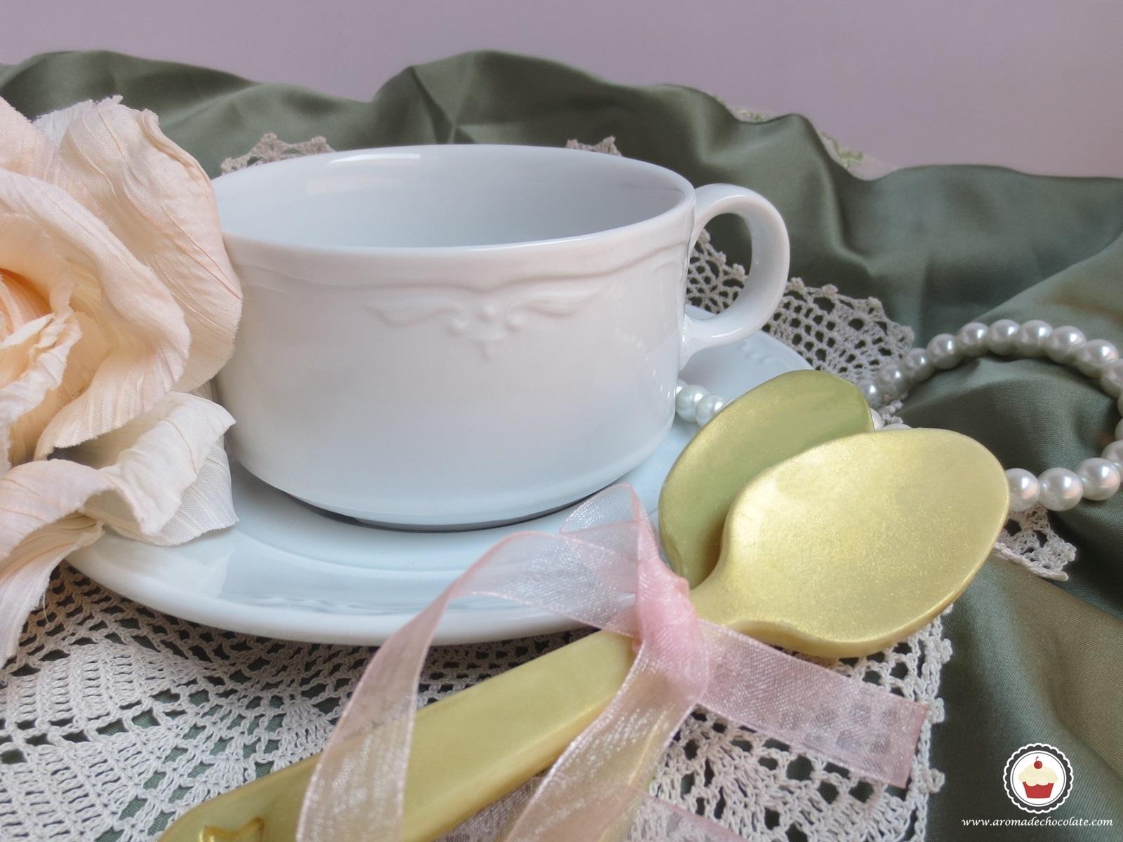 Cucharas de chocolate. Aroma de chocolate