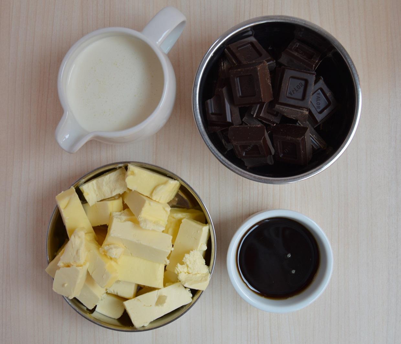 Buttercream de chocolate y caramelo. Aroma de chocolate