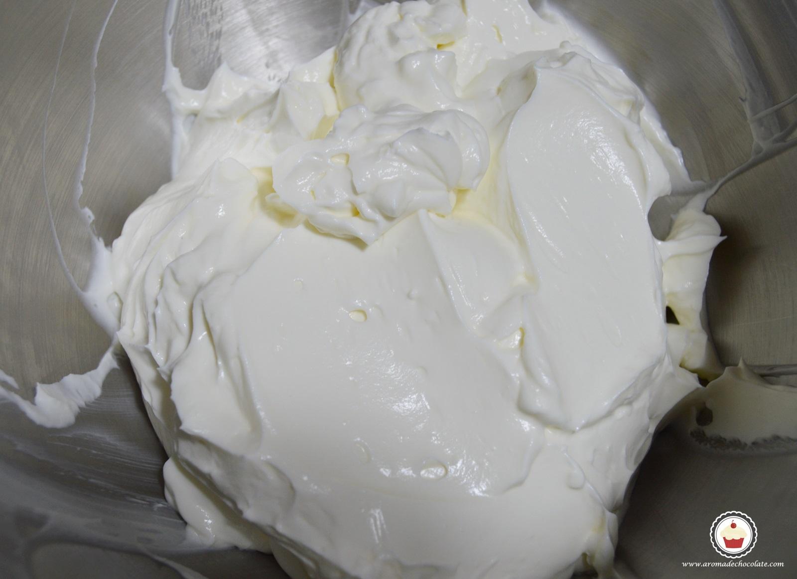 Frosting de queso. Aroma de chocolate