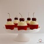 Cupcakes de cerezas al cava. Aroma de chocolate