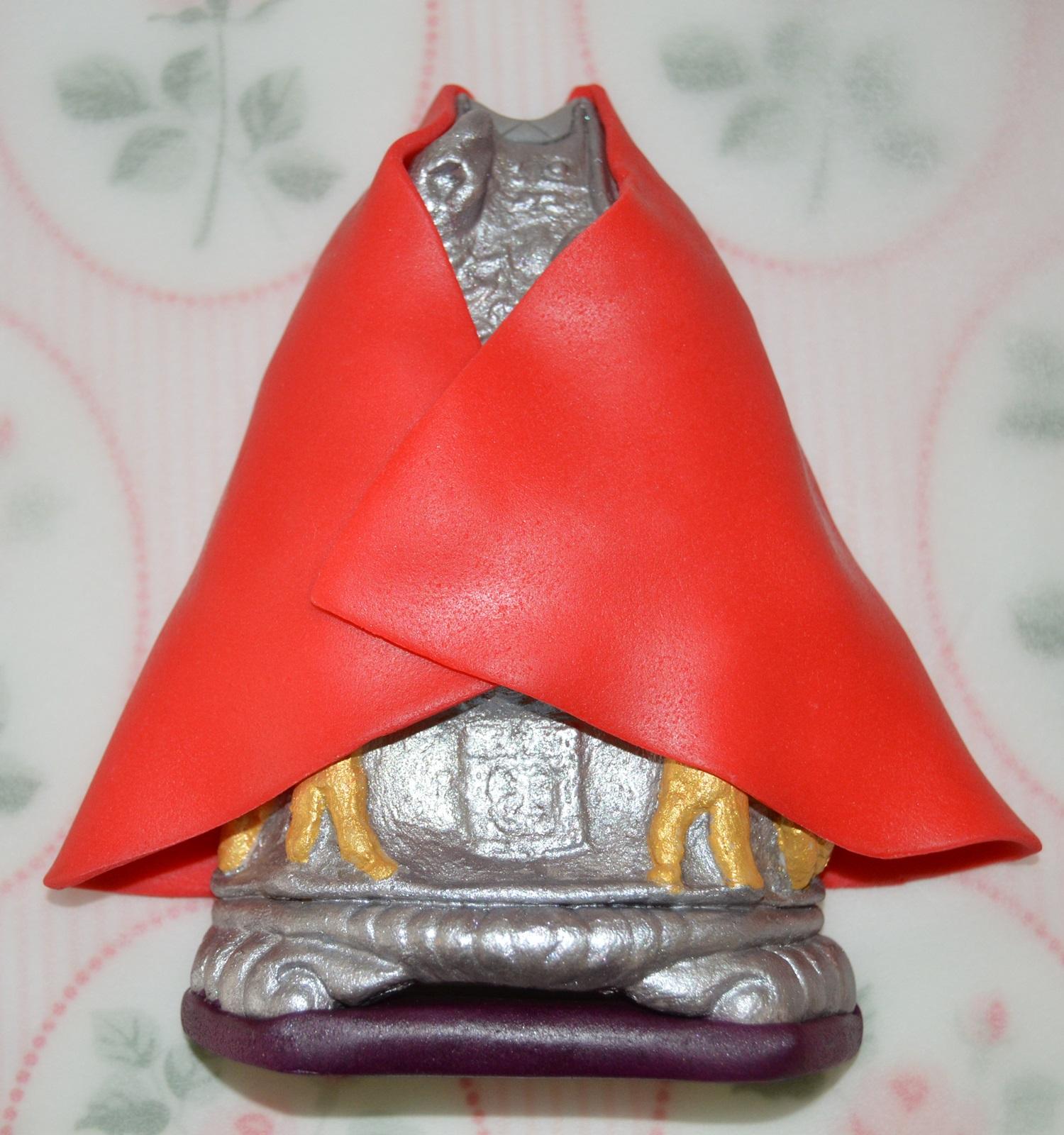 Capa del santo sin pintar. Aroma de chocolate