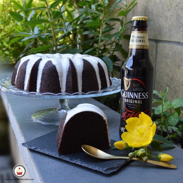 Bundt cake de chocolate y cerveza Guinnes. Aroma de chocolate