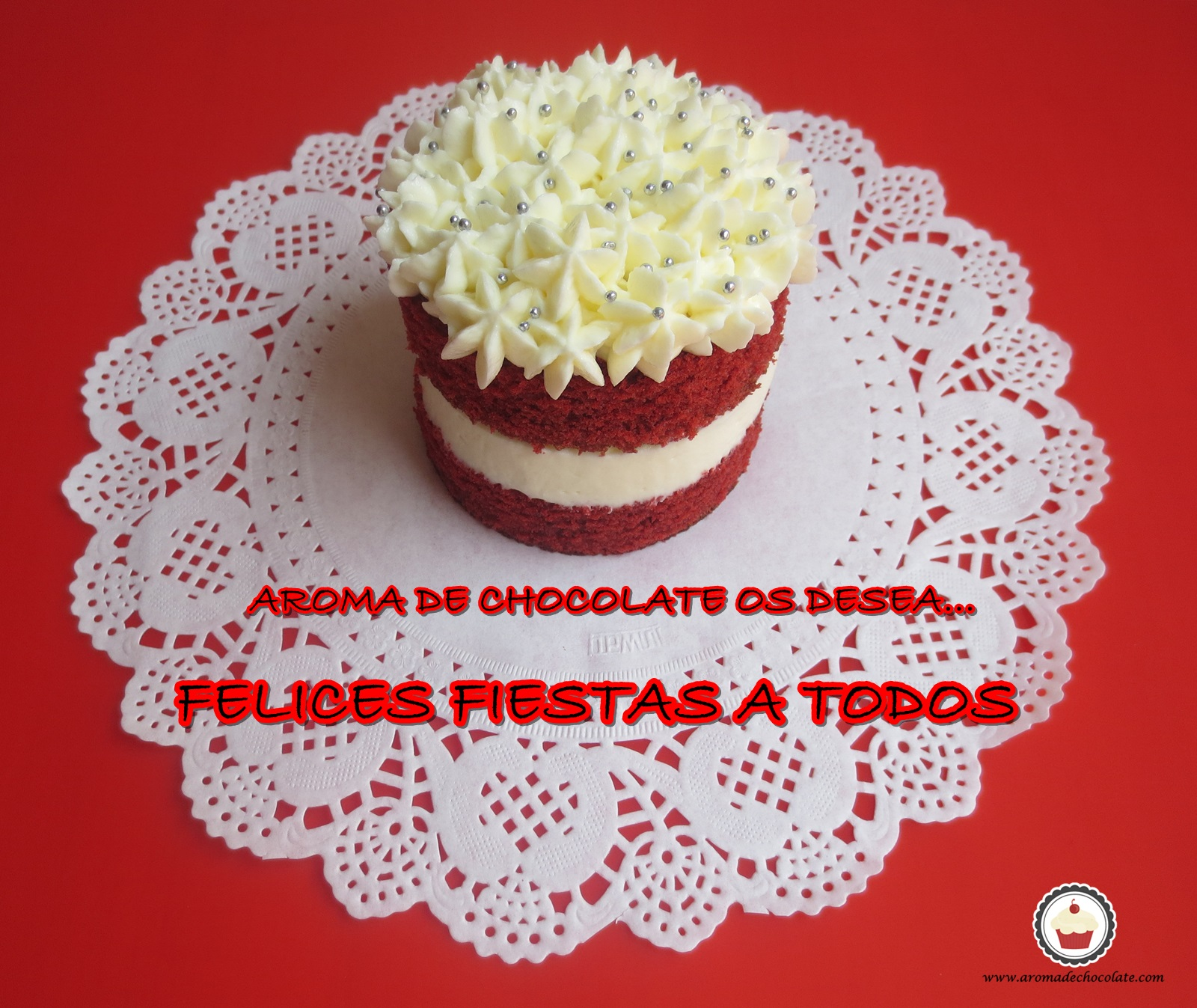 Red velvet mini cake. Aroma de chocolate
