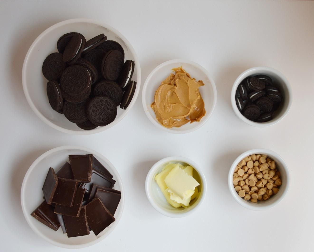Ingredientes Tarta de Oreo. Aroma de chocolate
