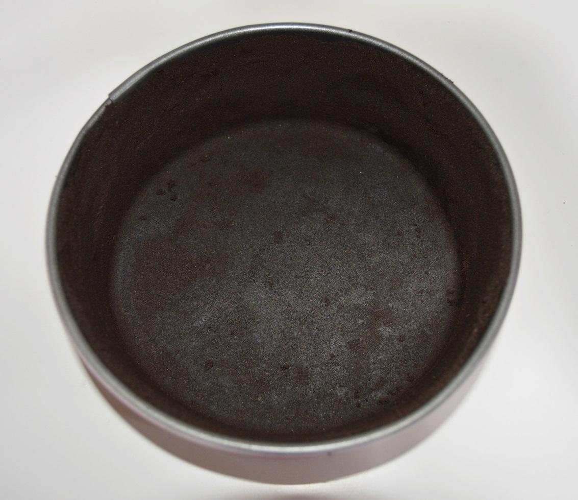 Preparando la base del cheesecake. Aroma de chocolate