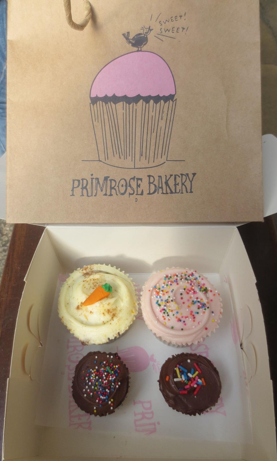Cupcakes. Primrose Bakery. Aroma de chocolate