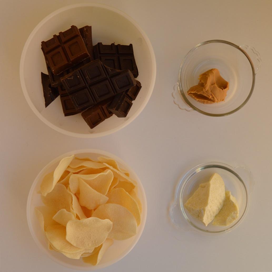 Ingredientes turrón. Aroma de chocolate