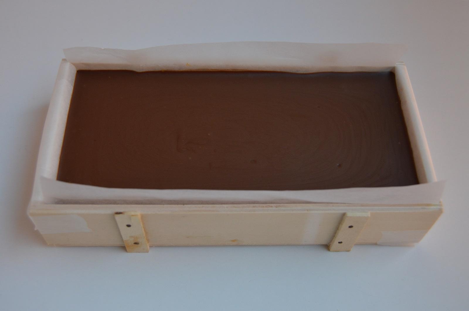 Tercera capa del turrón. Aroma de chocolate