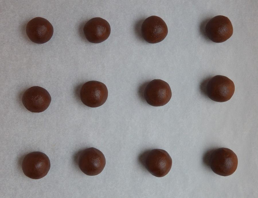 Bolitas de galleta. Aroma de chocolate