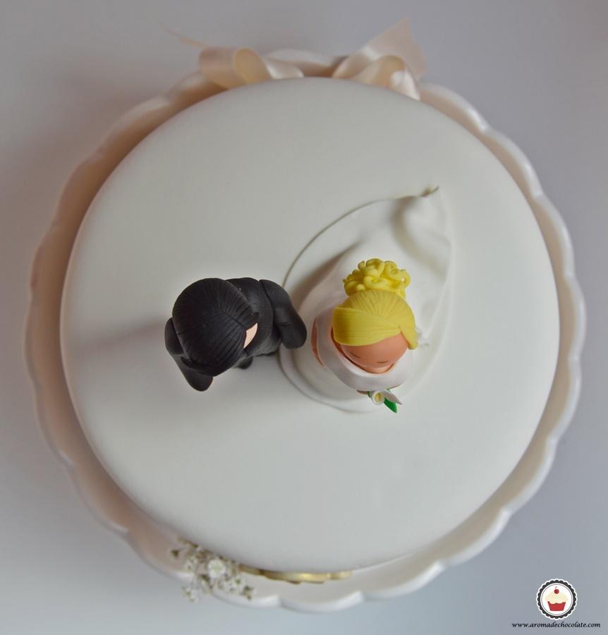 Tarta de boda. Aroma de chocolate