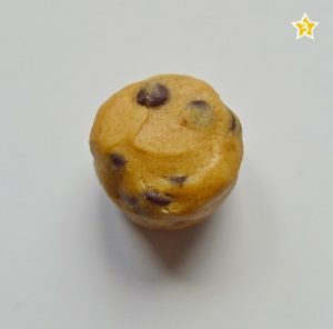 Cookie de Nutella lista para hornear. Aroma de chocolate