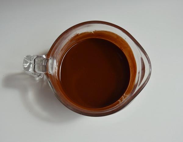 Chocolate y mantequilla fundidos. Aroma de chocolate
