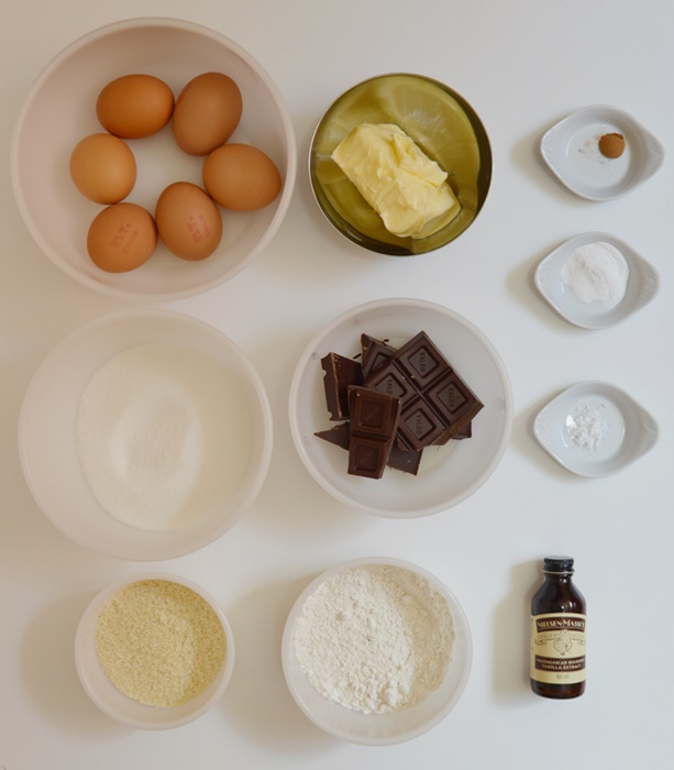 Ingredientes Tarta Sacher. Aroma de chocolate