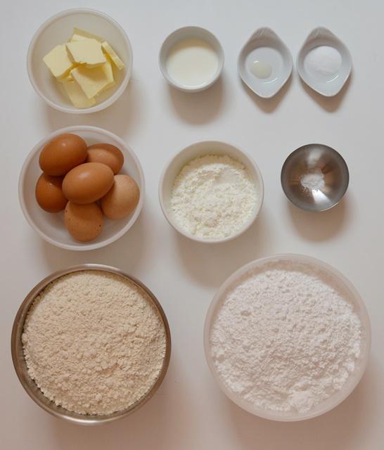 Ingredientes galletas springerle. Aroma de chocolate