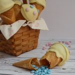 Ice cream cone cake pops. Aroma de chocolate