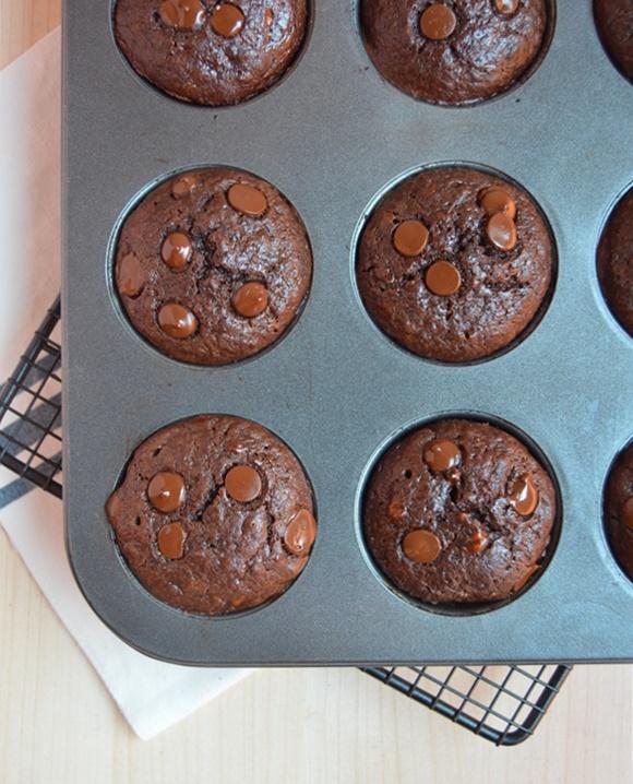 Enfriando los muffins. Aroma de chocolate