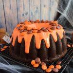 Bundt cake de chocolate y calabaza. Aroma de chocolate