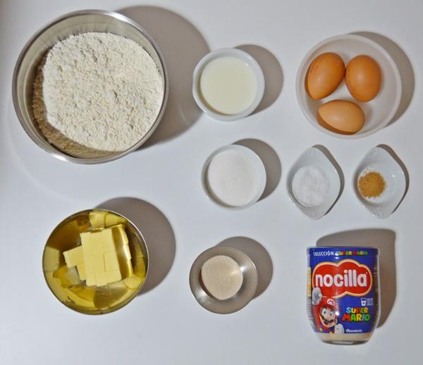 Ingredientes. Bombas de Nocilla. Aroma de chocolate