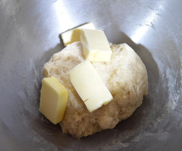 Añadiendo la mantequilla. Aroma de chocolate