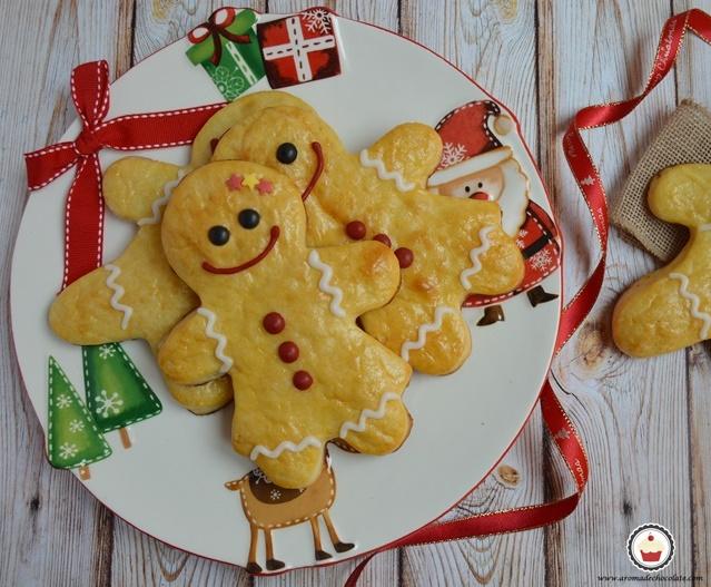 Panecillos de leche para Navidad. Special gingerbread. Aroma de chocolate.