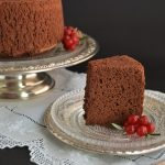 Chocolate angel food cake. Aroma de chocolate
