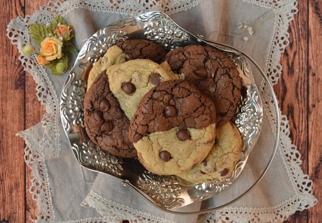 Chocolate chip brownie cookies. Aroma de chocolate