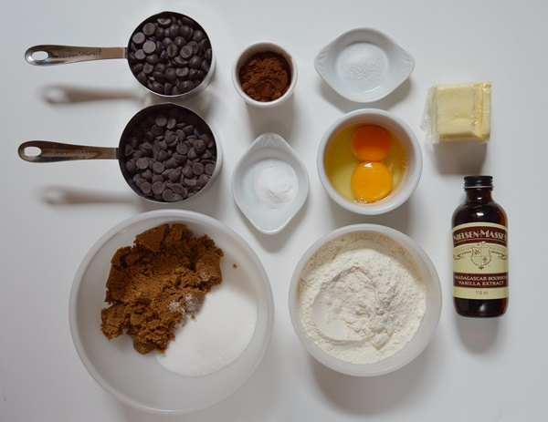 Ingredientes brownie cookies. Aroma de chocolate