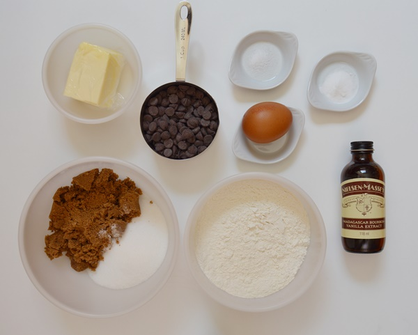 Ingredientes cookies. Aroma de chocolate