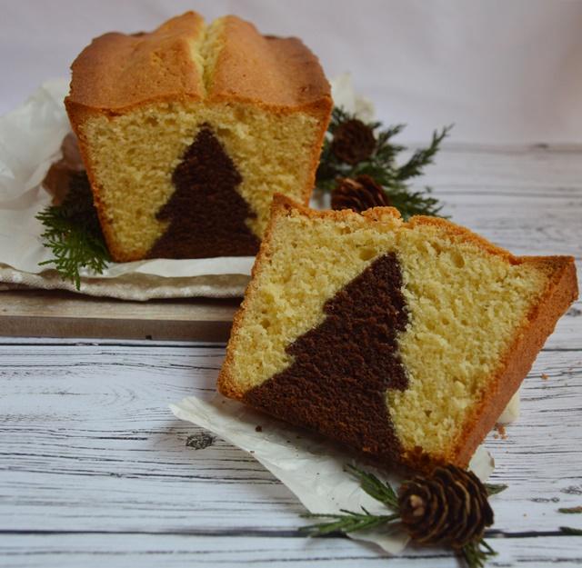 Bizcocho de invierno. Surprise cake. Aroma de chocolate