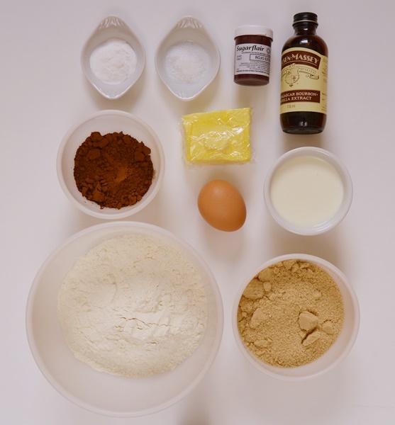 Ingredientes red velvet whoopie pies. Aroma de chocolate