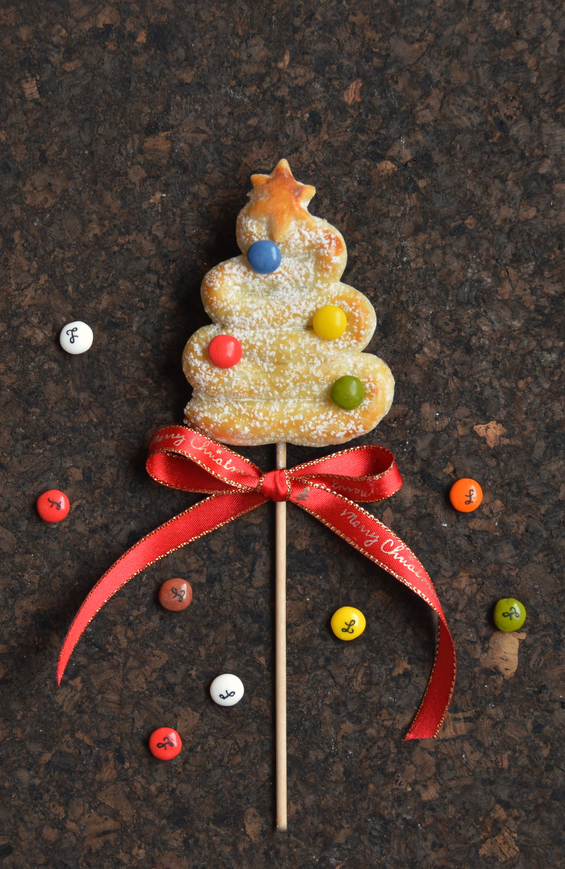 Hojaldre de navidad. Aroma de chocolate