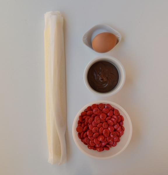 Ingredientes hojaldres de navidad. Aroma de chocolate