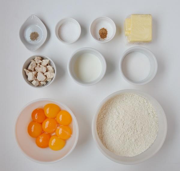 Ingredientes donuts. Aroma de chocolate
