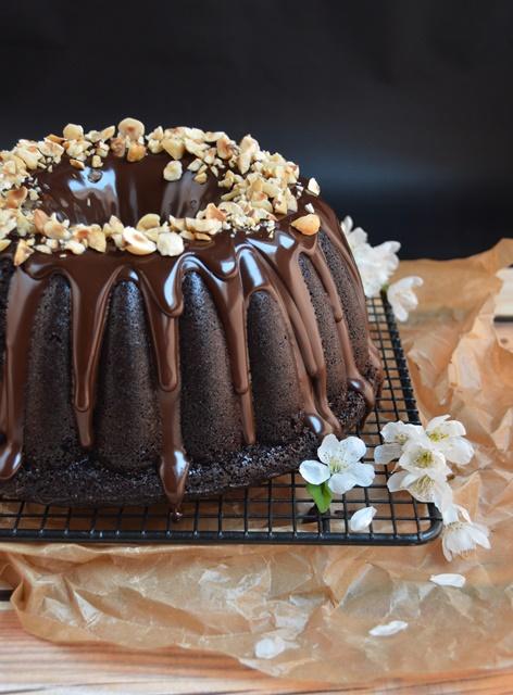 Bundt cake de chocolate. Aroma de chocolate