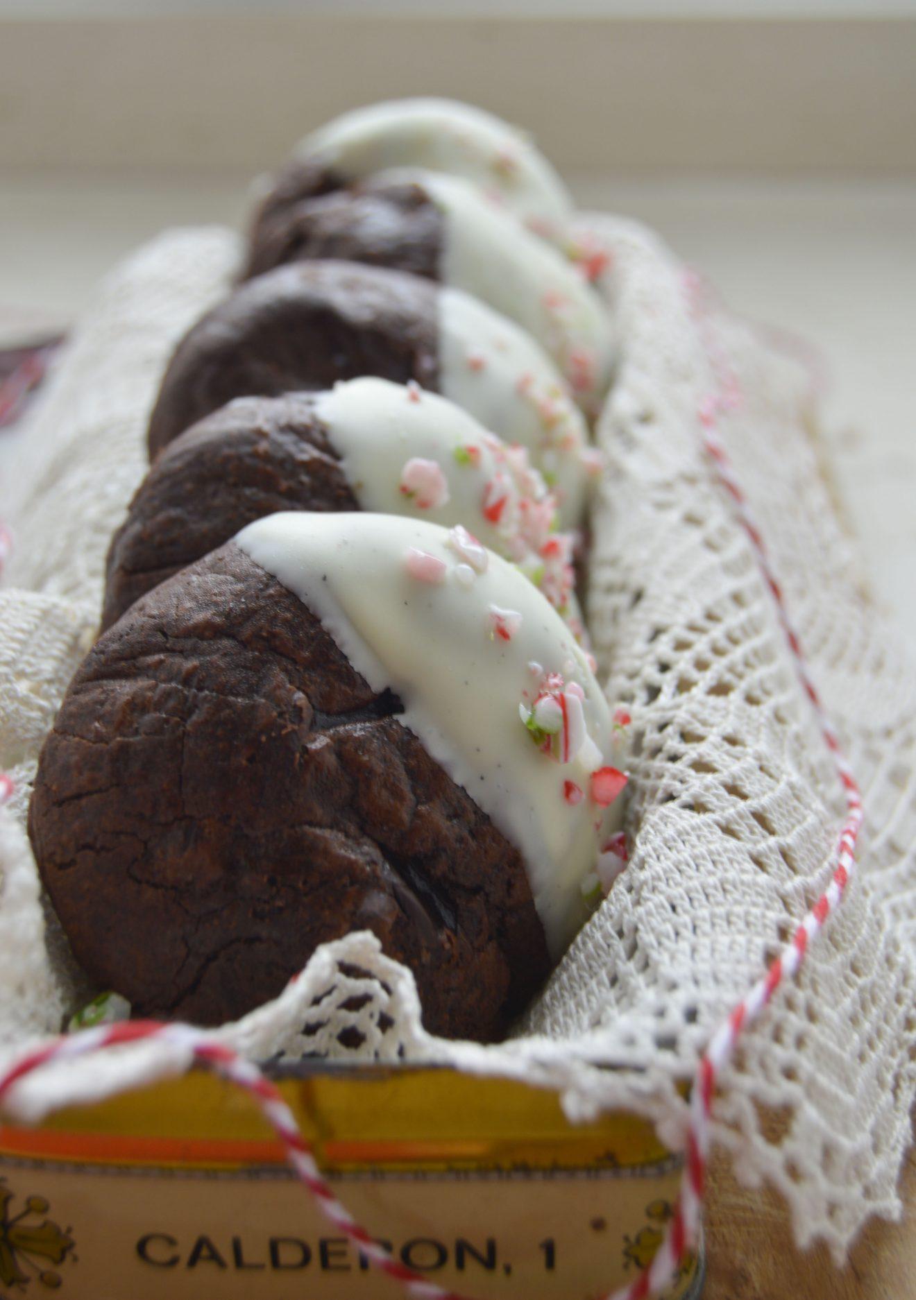 Galletas trufadas de chocolate para navidad. Aroma de chocolate