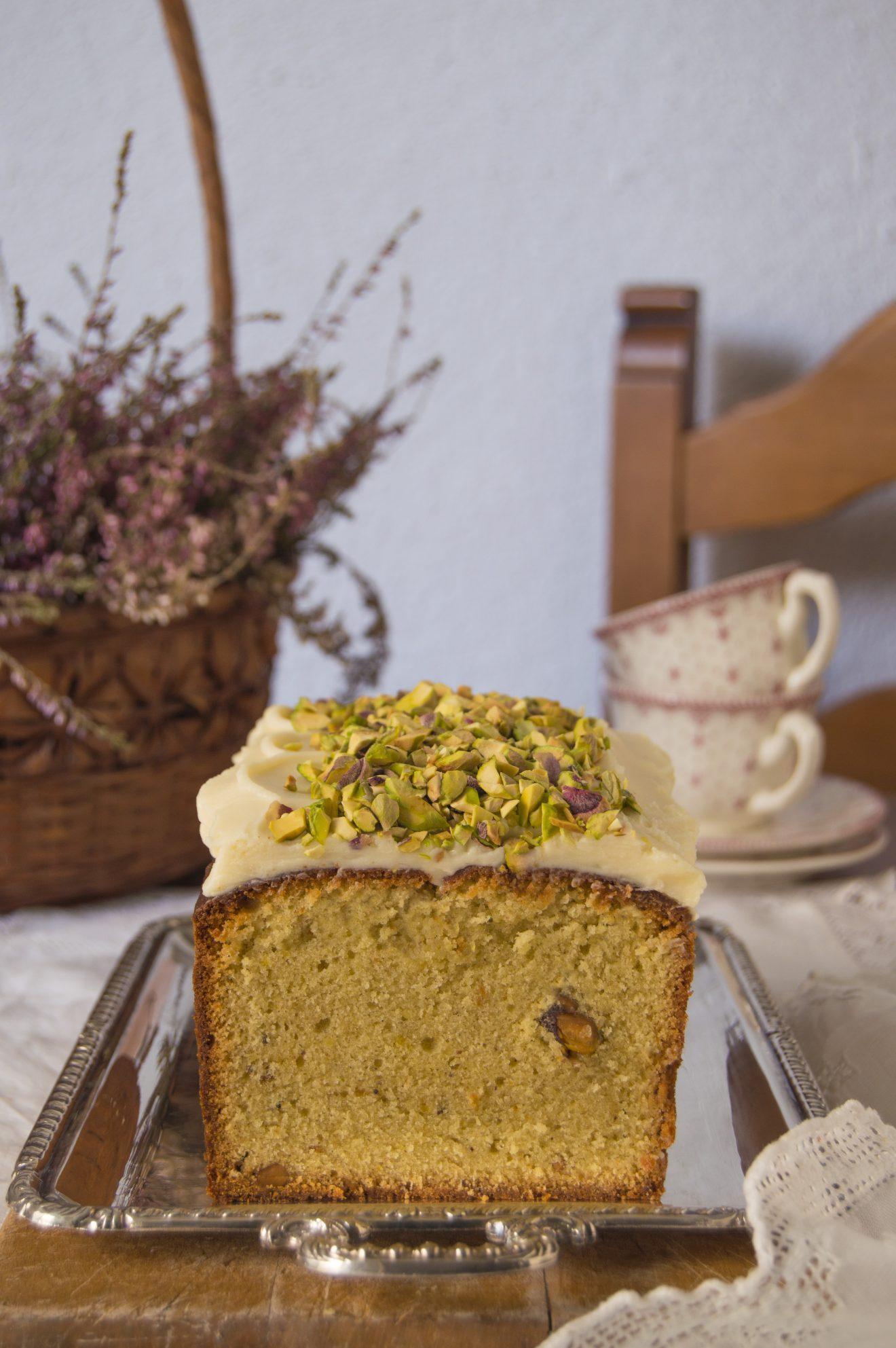 Pound cake de pistachos. Aroma de chocolate