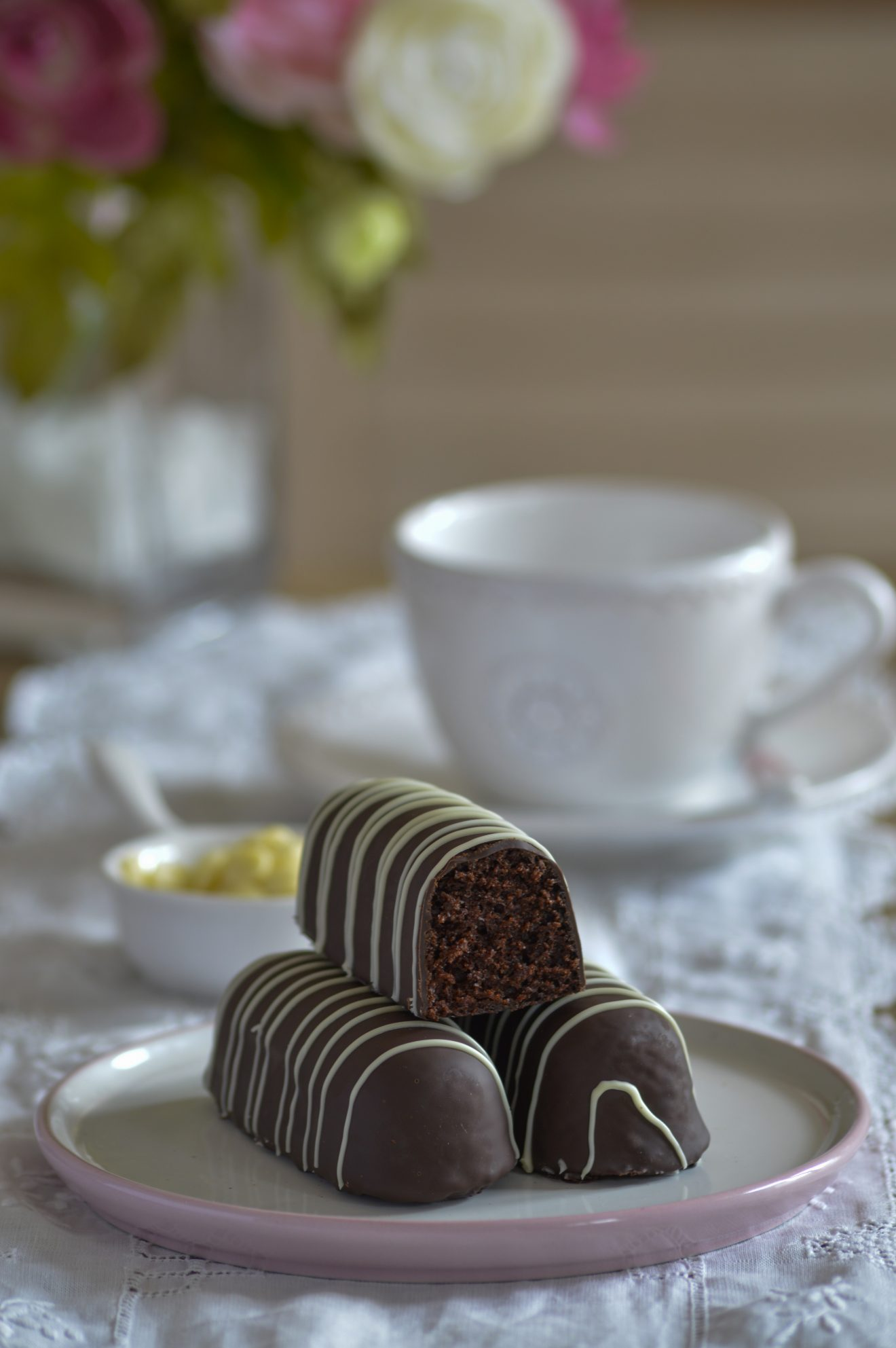 Pastelitos de chocolate.