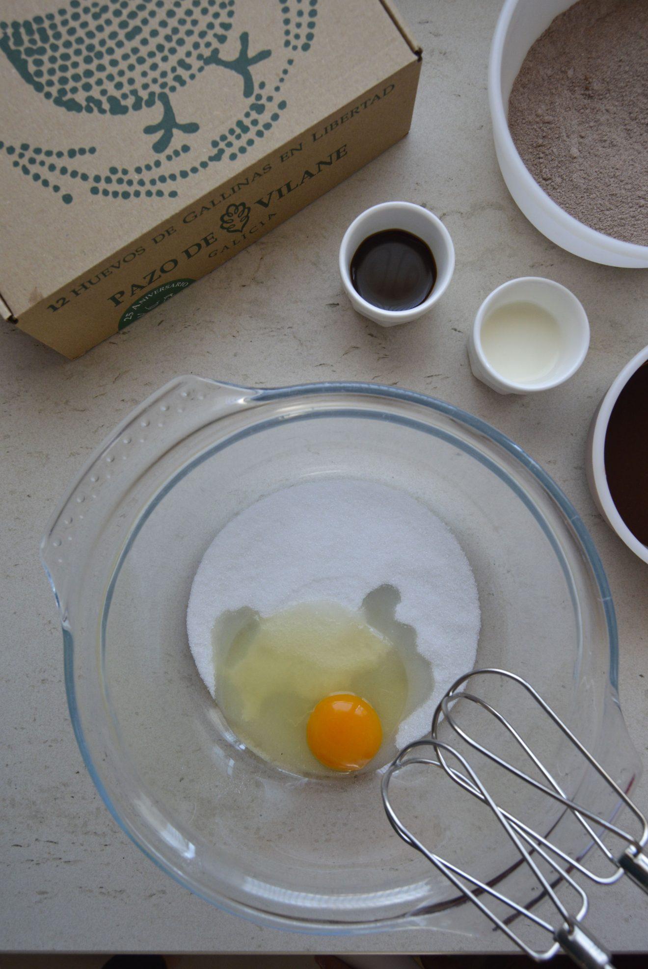 Ingredientes del bizcocho. Aroma de chocolate